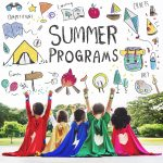Summer Programs with floating icons